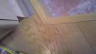玄関框の補修後